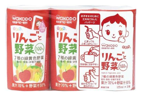 元気っち! りんごと野菜 125ml×18本