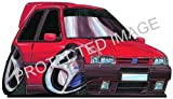 Koolart Car Tax Disc Holder 0214 Fiat Uno Turbo