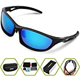 Torege Polarized Sports Sunglasses For Men Women Cycling Running Fishing Golf TR90 Unbreakable Frame TR010