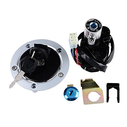 Ignition Switch + Fuel Gas Tank Cap Cover + Seat Lock + Keys Kit For Suzuki 2004-2005 GSXR600 GSXR750 2003-2008 SV1000S (Gas Ignition Kit compare prices)