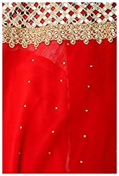 RG Group Women's Georgette semistitched Dress Material (Red)
