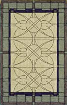 Hot Sale Shaw Living Nexus Collection Stained Glass Area Rug, 8-Feet by 11-Feet, Ecru