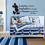Disney Inspired Laughter Imagination Dreams Vinyl Wall Decal Sticker