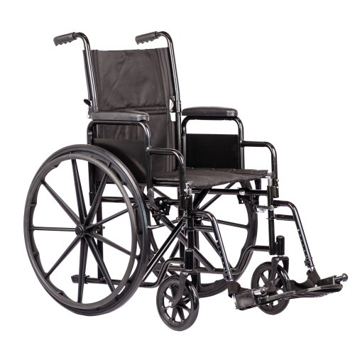 Fauteuil roulant pliable Viva Medi avec dossier inclinable - Largeur d'assise 48 cm
