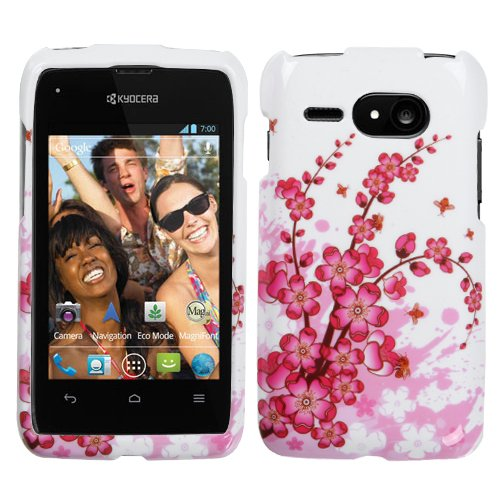 Mybat Kyoc5133Hpcim025Np Slim And Stylish Protective Case For Kyocera Event C5133 - 1 Pack - Retail Packaging - Spring Flowers