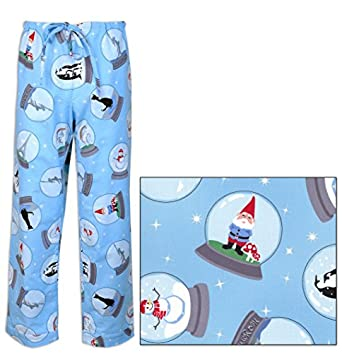The Cat's Pajamas Snow Globes Women's Cotton Flannel Pajama Pant Medium