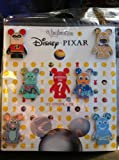 Disney Parks Pixar Characters in Vinylmation Form Trading Pin Set - Includes (1) Mystery Pin - (7 Pins Total) - Disney Parks Exclusive & Limited Availability