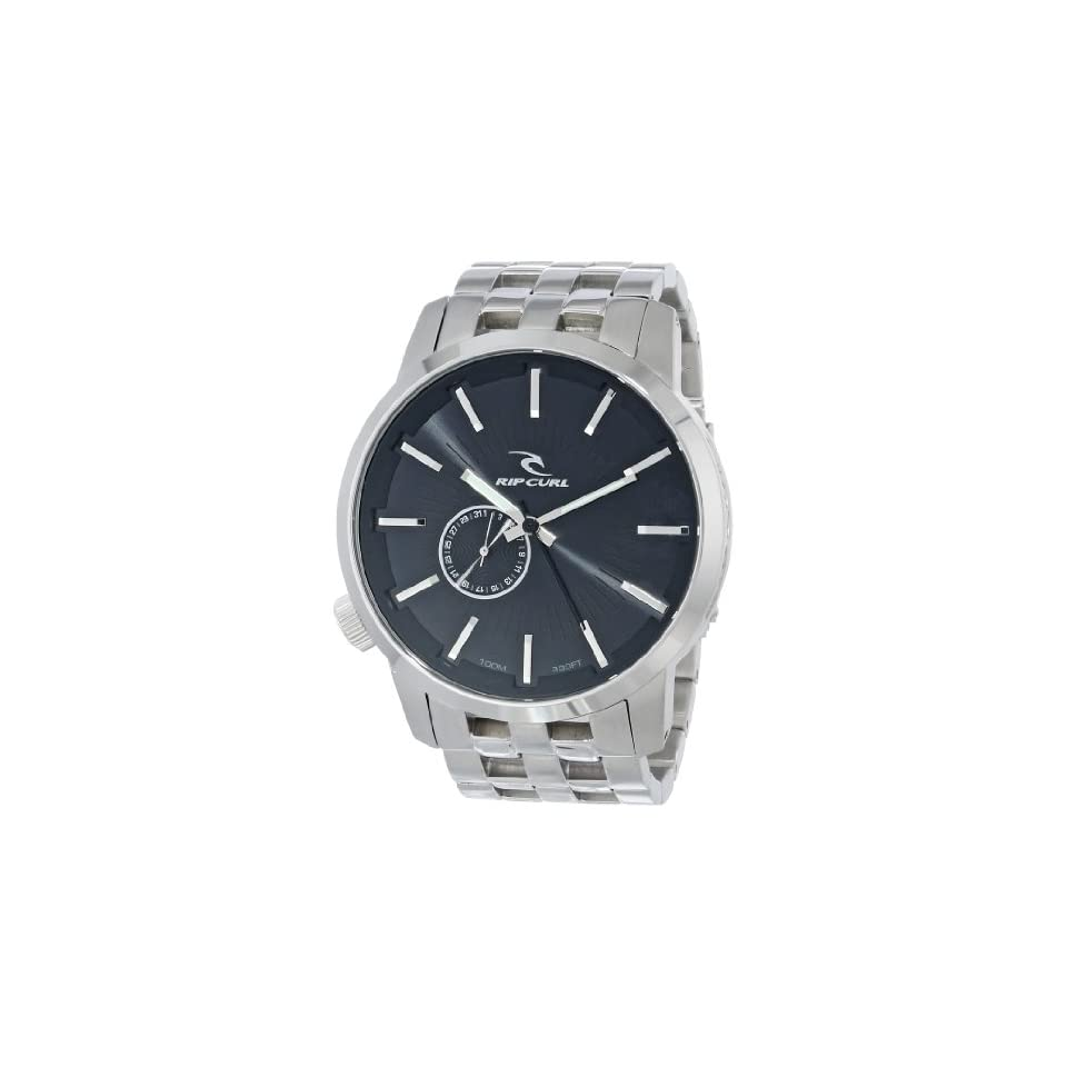 49384750ae Rip Curl Mens A2227 BLK Detroit Stainless Steel and Black Watch on ...