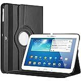 Bestwe 360° Ledertasche Flip Case Tasche Etui für Samsung Galaxy Tab 3 10.1 mit Ständerfunktion -Multi Color Options (Schwarz)