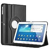 Bestwe 360� Ledertasche Flip Case Tasche Etui f�r Samsung Galaxy Tab 3 10.1 mit St�nderfunktion -Multi Color Options (Schwarz)