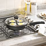 Lakeland Lidded Frying Pan & 4 Cup Egg Poacher Accessory 21cm