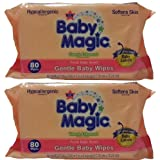 Baby Magic Gentle Baby Wipes, Refill Or Travel Pack With 80 Wipes (Pack Of 2 - Total 160 Wipes)