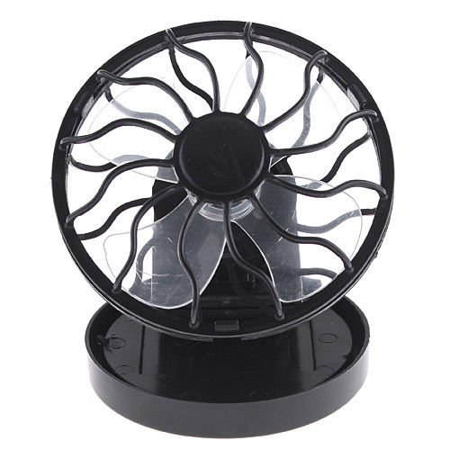 Clip-On Solar Cell Fan Sun Power Panel Cooling Cooler