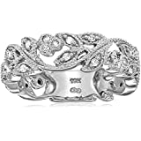 10k White Gold Diamond Ring (1/4 cttw, H-I Color, I3 Clarity)
