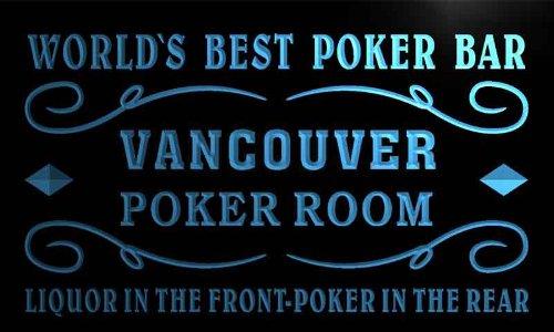Qn2195-B Vancouver Best Poker Man Cave Room Bar Beer Neon Led Sign
