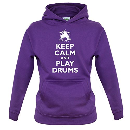 Keep-Calm-and-Play-Drums-Kinder-HoodieKapuzenpullover-9-Farben-1-13-Jahre