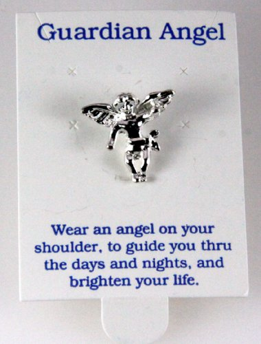 6030333 Guardian Angel Lapel Pin Brooch Tie Tack