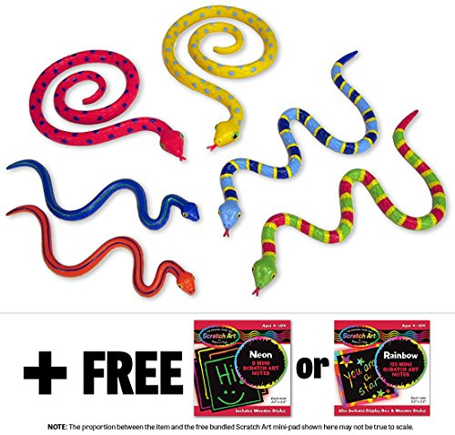 Sack of Snakes: Sunny Patch Outdoor Play Series + FREE Melissa & Doug Scratch Art Mini-Pad Bundle - 1
