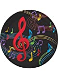 """Dancing Music Notes 9"""" Round Dinner Plates (8) Birthday Dance Party Supply"""