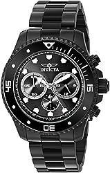 Invicta Mens 21792 Pro Diver Analog Display Quartz Black Watch
