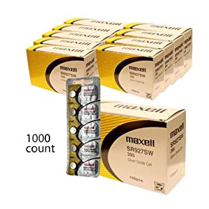 1000 pc Maxell SR927SW 395 SR57 SR927 Silver Oxide Watch Battery