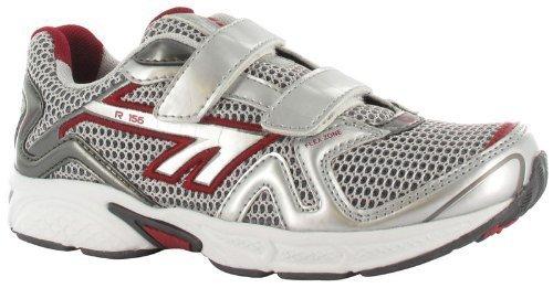 Hi-Tec-Scarpe da ginnastica per sport atletici R157SZ Junior-Scarpe da corsa, colore: rosso/argento