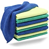 Microfiber Cleaning Cloth (9 Pack) - Best Quality Cloths for Kitchen, Windows & Car - 100% Unconditional Guarantee.