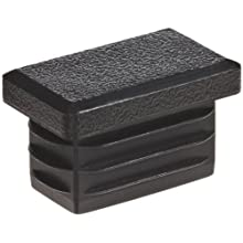Kapsto 270 R 2515 1.5 - 2 Polyethylene Rectangular Plug, Black, 25x15 mm (Pack of 100)