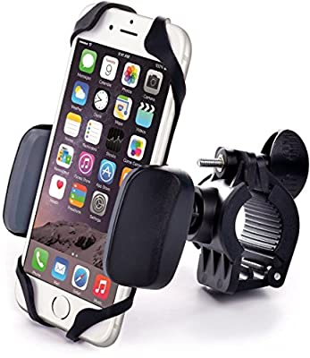Best Bike & Motorcycle Cell Phone Mount - For iPhone 6 (5, 6s Plus), Samsung Galaxy Note or any Smartphone & GPS - Universal Mountain & Road Bicycle Handlebar Cradle Holder. +100 to Safeness & Comfort