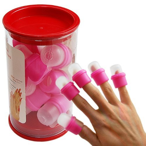 10PC wearable nail art soakers Ongle acrylic