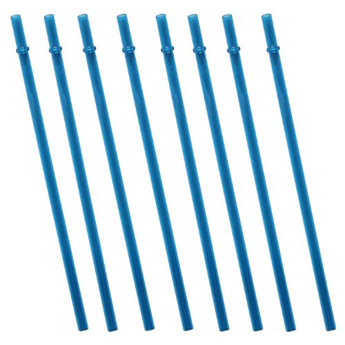 Color Replacement Acrylic Straw Set Of 8, For 16Oz, 20Oz, 24Oz Tumblers (Blue)