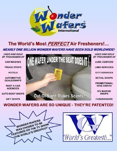 Wonder Wafers 25 CT Individually Wrapped Pina Colada Air Fresheners (Air Freshener Pina Colada compare prices)