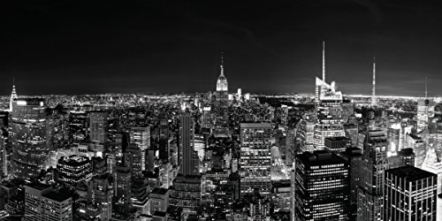 New York City (NYC) Black and White Manhattan Skyline Decorative Photography Poster Print 12x24 (New York City Photography compare prices)