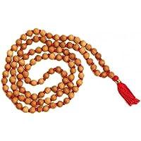 Malabar Gems White Sandal Wood Chandan 108 + 1 6mm Beads Japa Mala