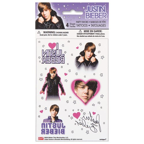 Unique Justin Bieber Tattoos (4 Sheets)