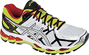 ASICS Men's Gel kayano 21 Running Shoe,White/Lightning/Flash Yellow,16 M US