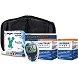 One Touch Ultra Diabetes Testing Kit - One Touch Ultra Meter, 100 Unistrip Test Strips, 100 Lancets, 100 Alcohol Pads, 1 Lancing Device