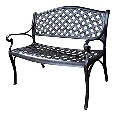 Lazy Susan Furniture - Jasmine Metal Garden Bench
