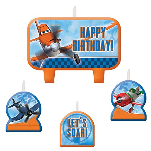 1 X Disney Planes 2 Birthday Candle Set - 4 pcs - 1