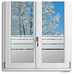 Sichtschutzfolie Glasdekorfolie Fensterfolie Dynamische Streifen satiniert blickdicht + kostenlose Maßanfertigung (siehe 2. Produktbild)