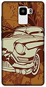 The Racoon Lean printed designer hard back mobile phone case cover for Huawei Honor 7. (vintage ri)