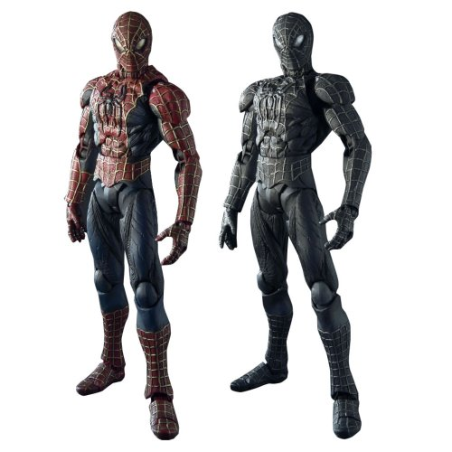 Picture of Bandai Movie Realization Black Spider-man and Spiderman figure set Bandai (B000R8AD4I) (Spider-Man Action Figures)