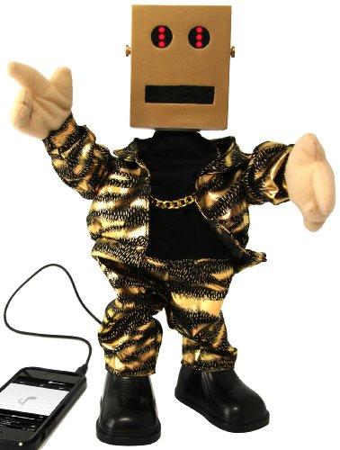 Thumbs Up Uk Dancing Robot Speaker - Retail Packaging - Gold/Black