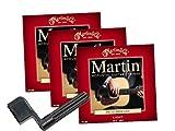 3 x Jeux de cordes folk Martin 12-54 + Cadeau