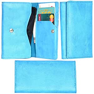 R&A Pu Leather High Quality Wallet Pouch Case Cover With Card Slot & Note Slots,Soft Inner Velvet For Sony Xperia E4