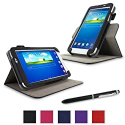 rooCASE Samsung GALAXY Tab 3 7.0 SM-T210R Dual-View Folio Case Cover (Black)