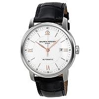 Baume et Mercier Classima Silver Dial Black Leather Automatic Mens Watch M0A10075 by Baume et Mercier