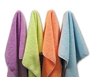 Microfiber Wonder Cloths 4 count Assorted Colors