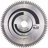 Bosch Zubehör 2608640447 Kreissägeblatt Multi Material 216 x 30 x 2,5 mm, 80