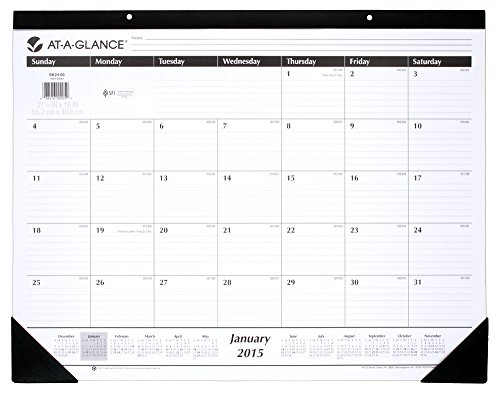 AT-A-GLANCE Monthly Desk Calendar 2015, 21.75 x 16 Inch Page Size (SK24-00) (2015 Custom Wall Calendar compare prices)
